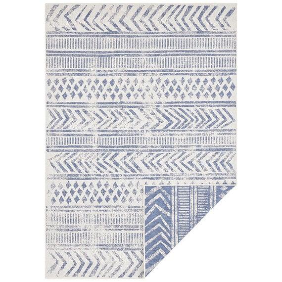 Bougari Buiten vloerkleed - Biri Blauw Creme