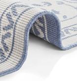 Bougari Buiten vloerkleed - Leyte Blauw Creme