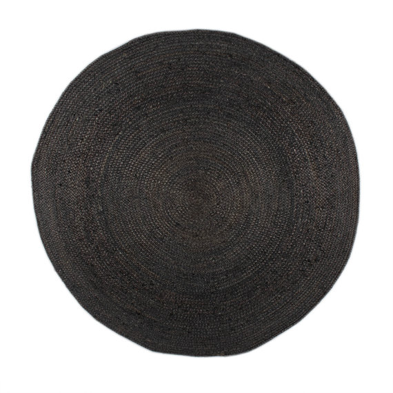 FRAAI Jute vloerkleed - Fair Rond zwart