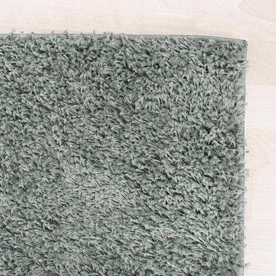 FRAAI Hoogpolig vloerkleed - Solid Blauw/Groen