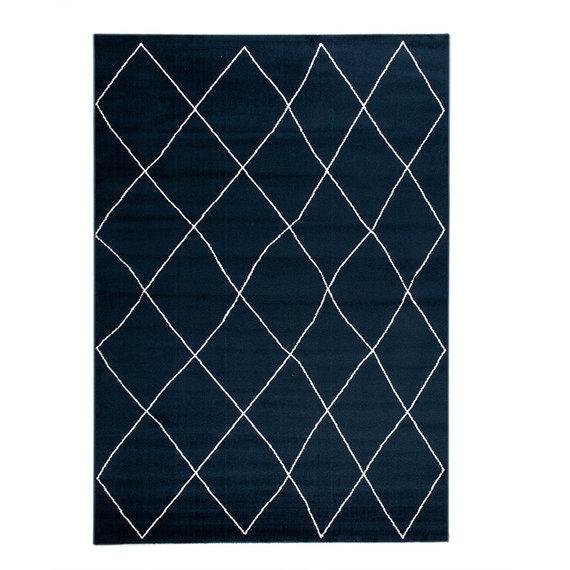 FRAAI Vloerkleed Ambiance - Lines Blauw Wit