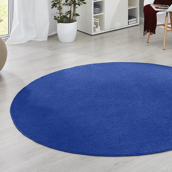 Rond vloerkleed - Fancy blauw