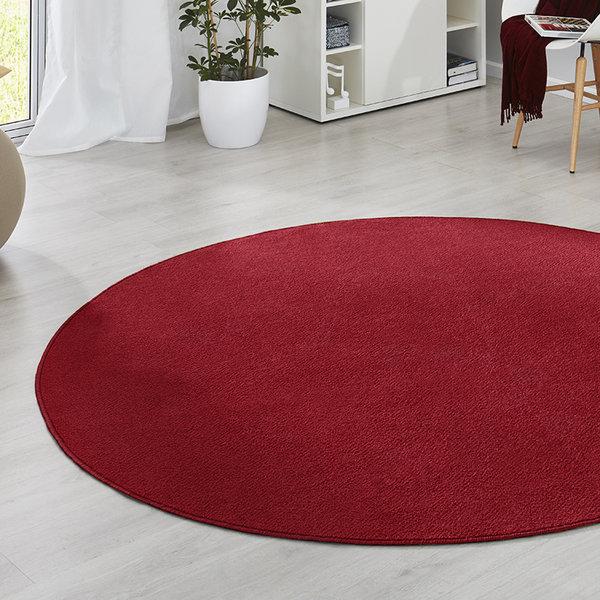 Rond vloerkleed - Fancy rood