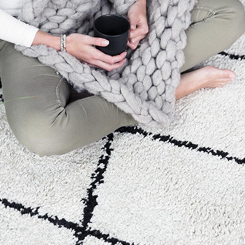 Wollen vloerkleed Berber