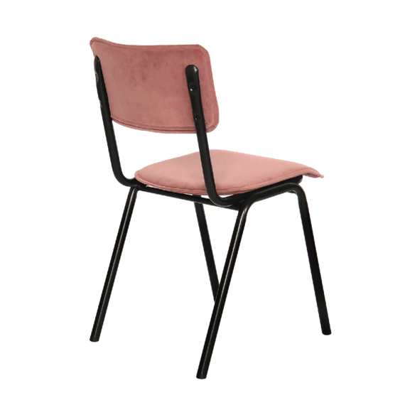 Kick Collection Stoel Velvet - Cas Roze