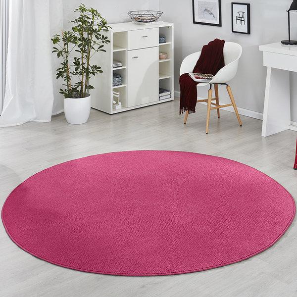 Rond vloerkleed - Fancy Fel Roze