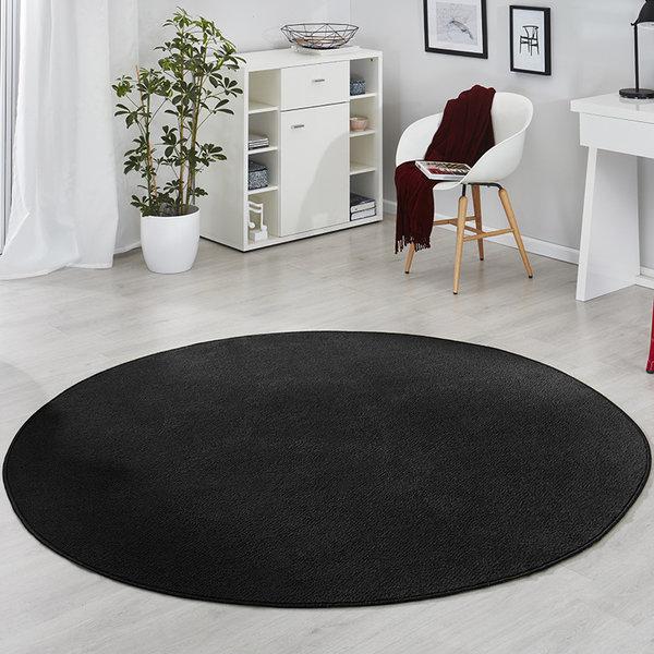 Rond vloerkleed - Fancy Zwart