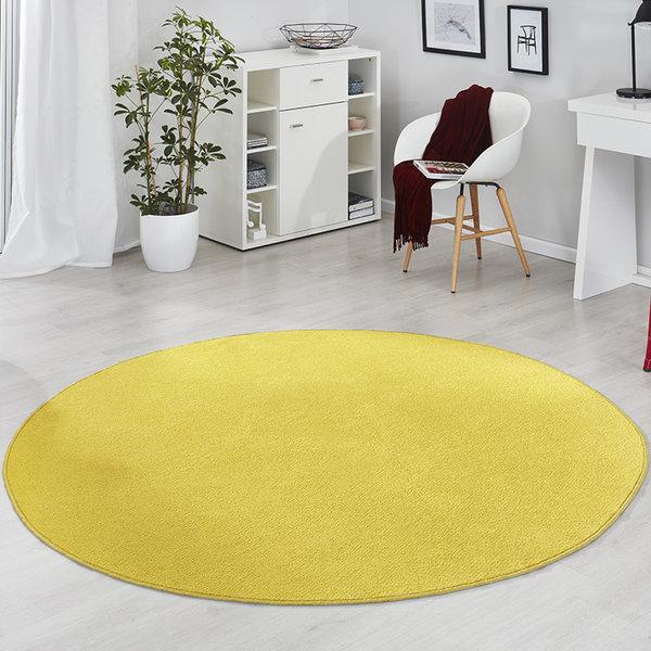 Rond vloerkleed - Fancy Geel