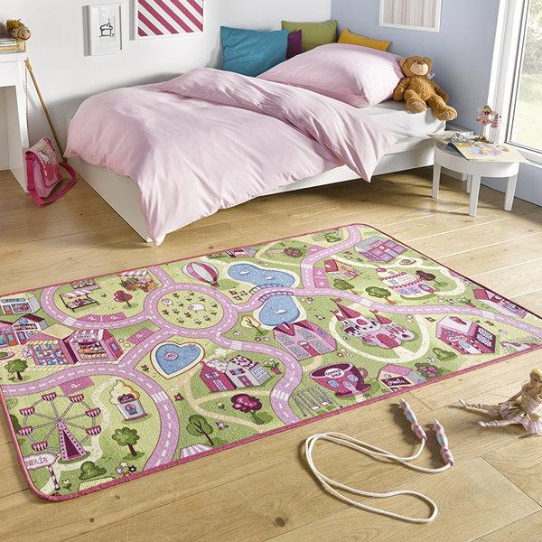 Kindervloerkleed - Play Sweettown Roze
