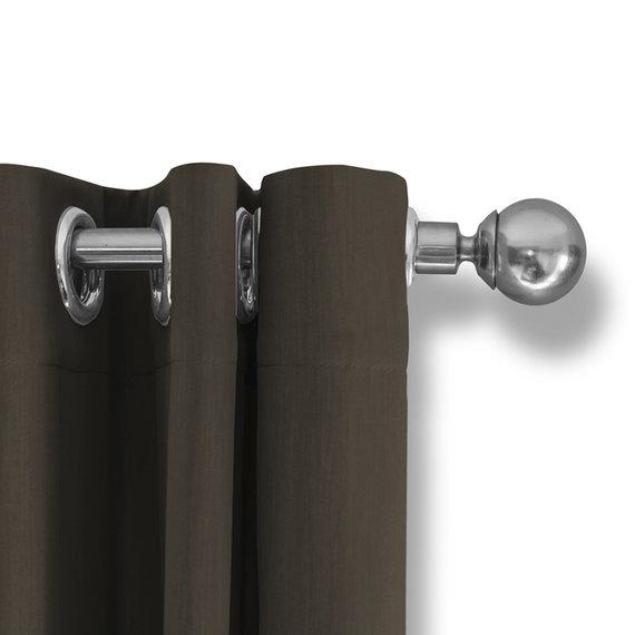 Lifa Living Luxe Verduisterende Gordijnen - Donker Taupe - Ringen