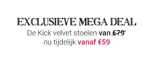 Velvet stoelen nu vanaf €59