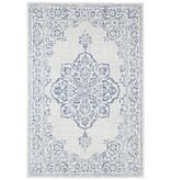 Bougari Patchwork buitenkleed  - Tilos Creme Blauw
