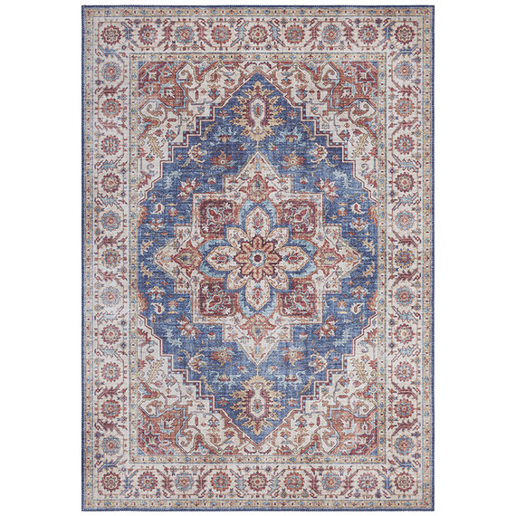 Nouristan Vintage vloerkleed - Asmar Anthea Donker Blauw