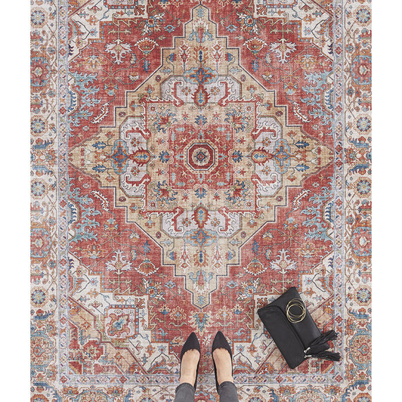 Nouristan Vintage vloerkleed - Asmar Sylla Rood