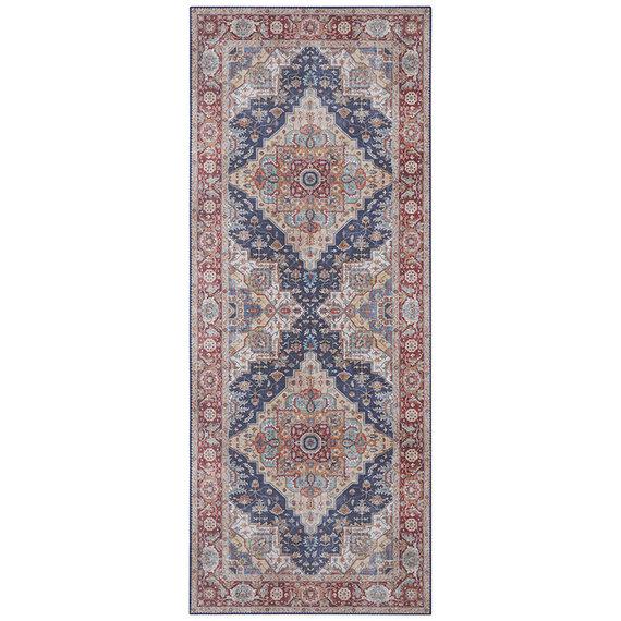 Nouristan Vintage loper - Asmar Sylla Blauw Rood
