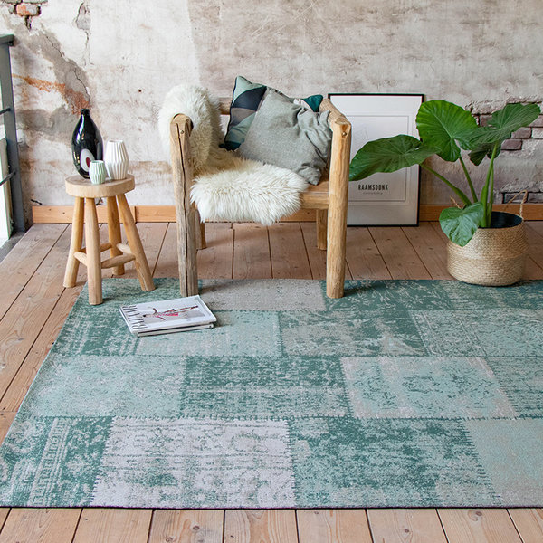 Patchwork vloerkleed - Dreams Mint/Turquoise
