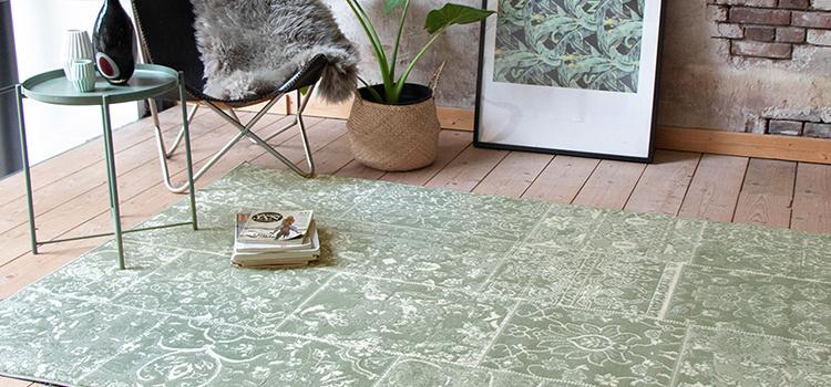 patchwork vloerkleed groen Wonder