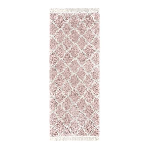 Hoogpolige loper - Desire Pearl Roze