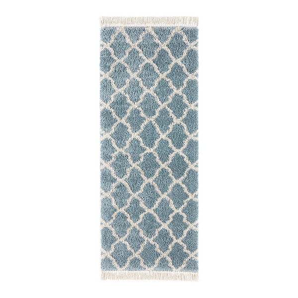 Hoogpolige loper - Desire Pearl Blauw