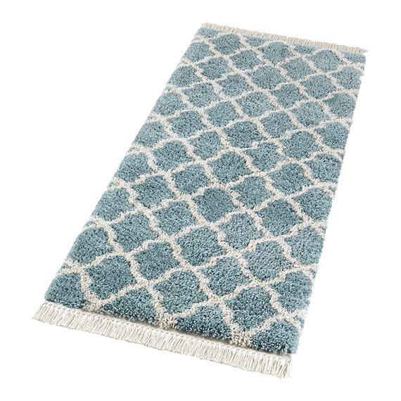 Mint Rugs Hoogpolige loper - Desire Pearl Blauw