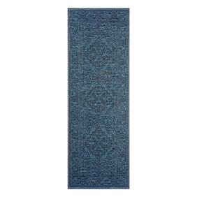 Bougari Vintage Loper - Java Tyros Blauw Antraciet