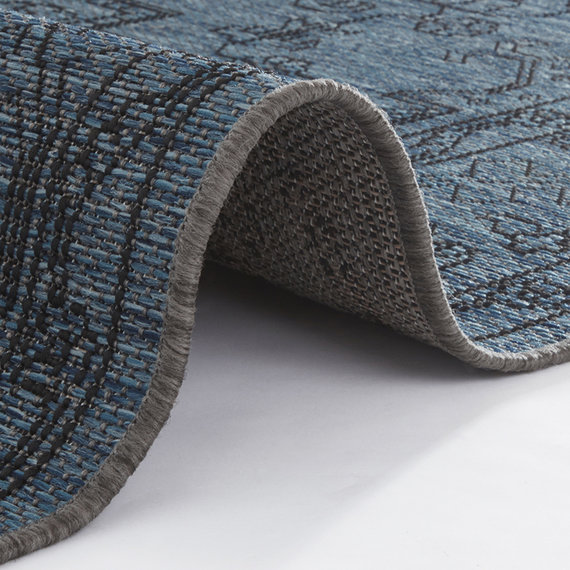 Bougari Vintage Buitenkleed -  Java Tyros Blauw Antraciet