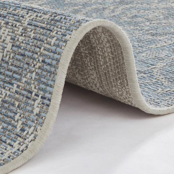 Bougari Vintage Buitenkleed - Java Choy Blauw Taupe