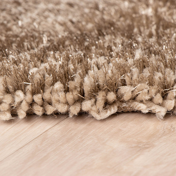 FRAAI Hoogpolig vloerkleed - Glazy Taupe