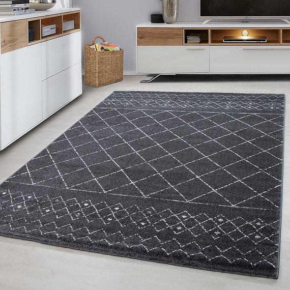Adana Carpets UITVERKOCHT Modern vloerkleed - Lucca Grijs