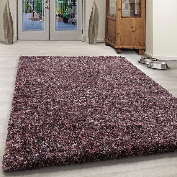Hoogpolig vloerkleed - Enjoy Roze