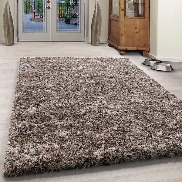 Adana Carpets Hoogpolig vloerkleed - Enjoy Beige