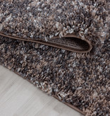 Adana Carpets Hoogpolige loper - Enjoy Taupe