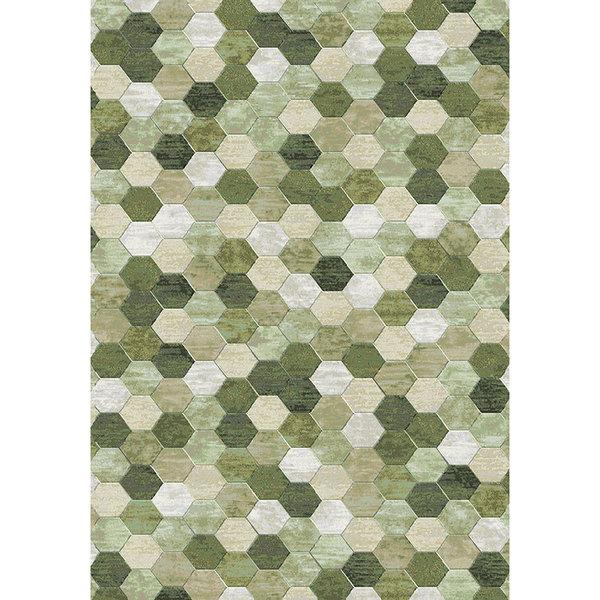 Antoin Carpets Modern Vloerkleed - Amado Groen 6444