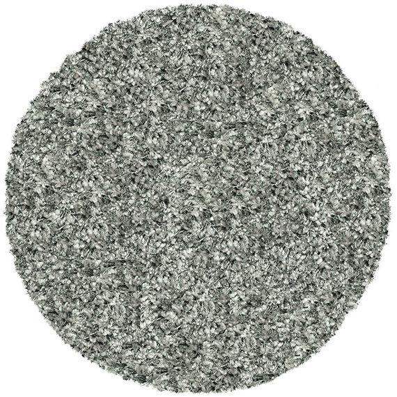Antoin Carpets Rond Hoogpolig vloerkleed - Twilight Zilver 9999