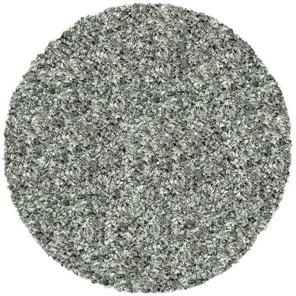 Rond Hoogpolig vloerkleed - Twilight Zilver 9999