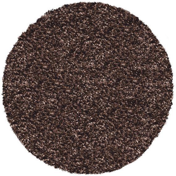 Antoin Carpets Rond Hoogpolig Vloerkleed - Twilight Bruin 7722