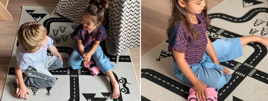 Zwart-wit vloerkleden voor in de babykamer