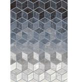 Antoin Carpets Modern Vloerkleed - Apex Blauw 6656