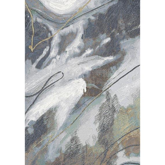 Antoin Carpets Modern Vloerkleed - Acampo Grijs/Blauw 2626