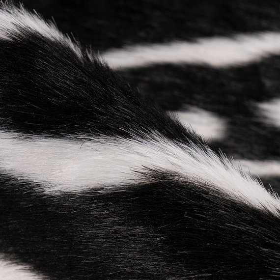 Kay Imitatie koeienhuid - Desert Zeebra Zwart Wit