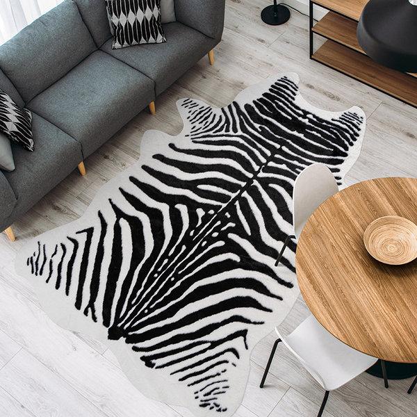 Imitatie koeienhuid - Desert Zeebra Zwart Wit