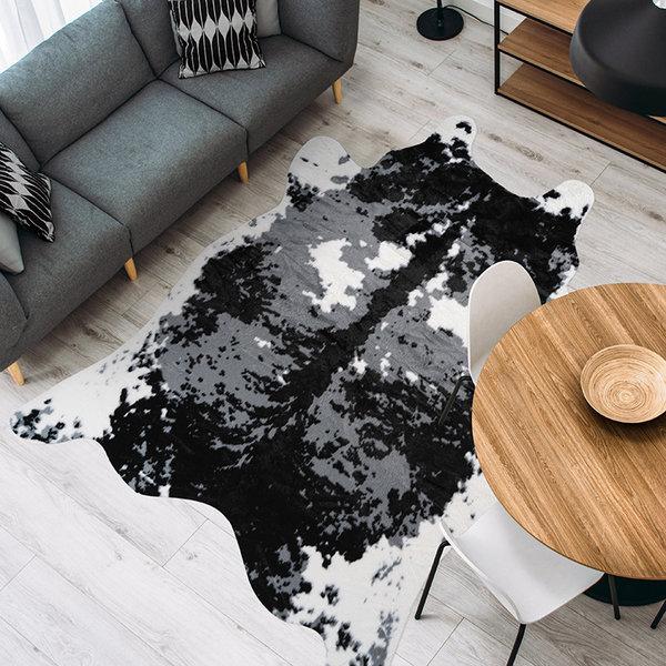 Imitatie koeienhuid - Desert Koe Zwart Wit