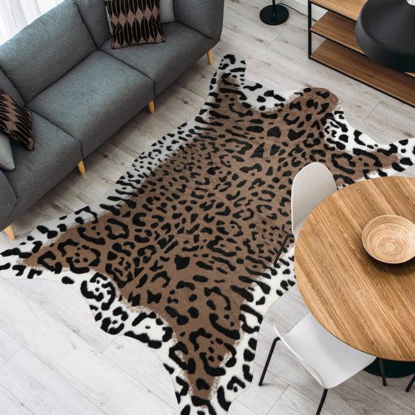 Imitatie koeienhuid - Desert Cheetah Bruin