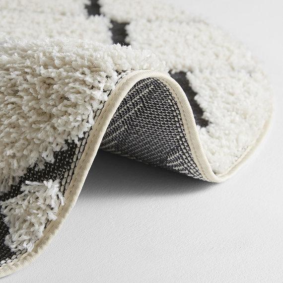 Mint Rugs Rond vloerkleed - Handira Dades Creme Zwart