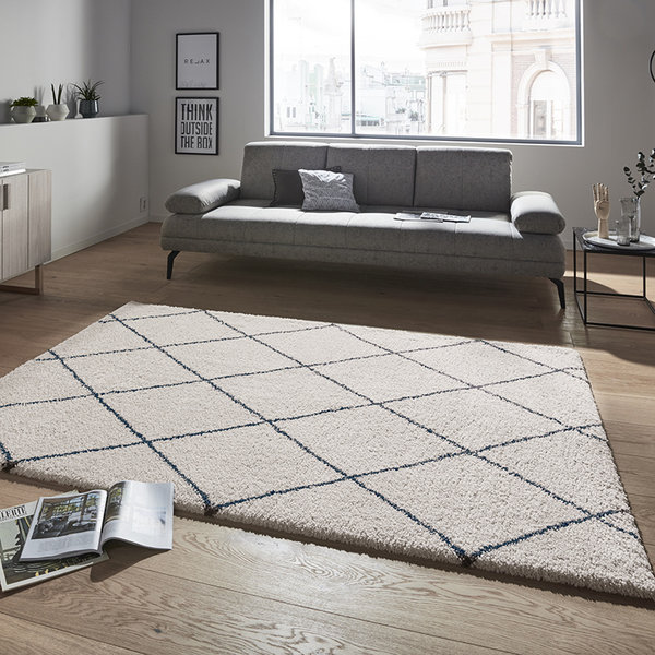 Mint Rugs Hoogpolig vloerkleed - Allure Feel Creme Groen