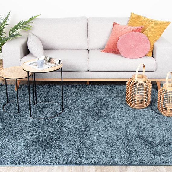 FRAAI Hoogpolig vloerkleed - Lofty Blauw