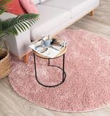 FRAAI Rond hoogpolig vloerkleed - Lofty Roze