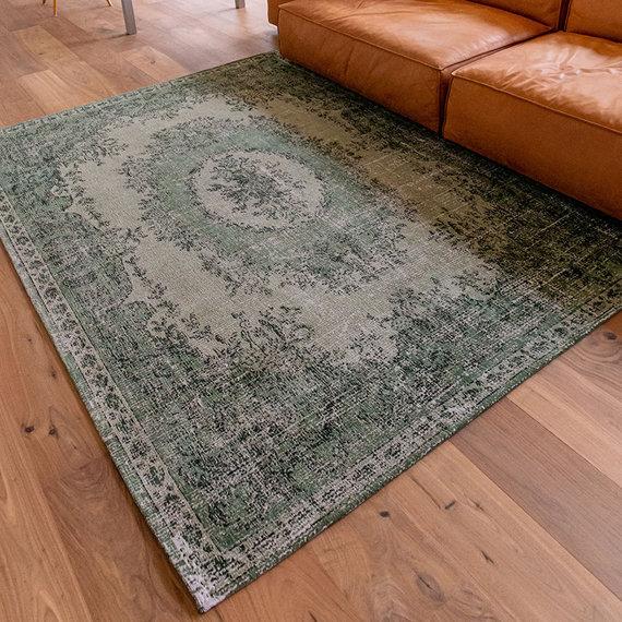 Louis de Poortere Vintage vloerkleed - Palazzo 9142 Groen