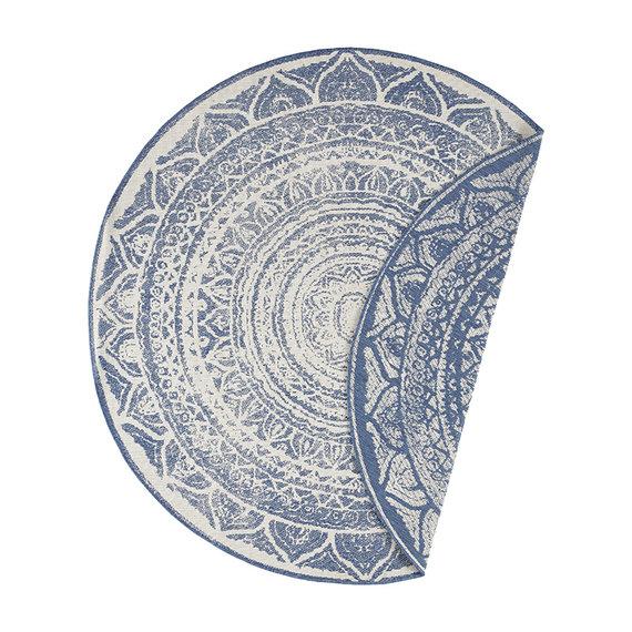 Bougari Rond Buitenkleed - Twin Siruma Blauw