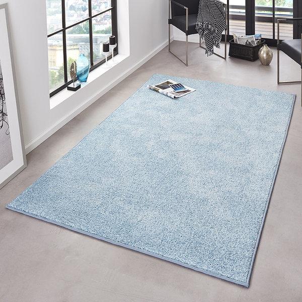 Laagpolige vloerkleed - Pure Blauw